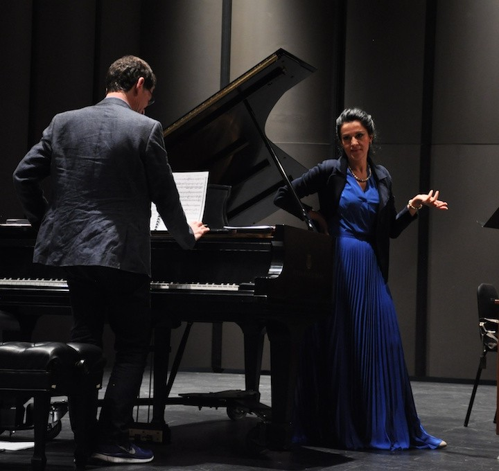 Angela Gheorghiu, rehearsal for the recital in Los Angeles, 14.03.2013